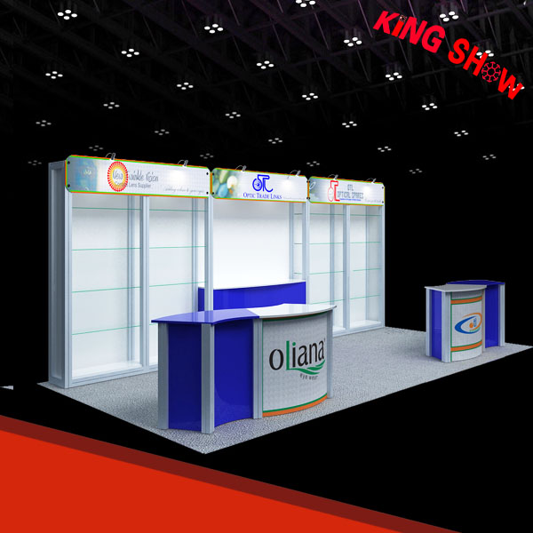 Custom Modular 20x20 6x6 trade show exibition stand with high performance