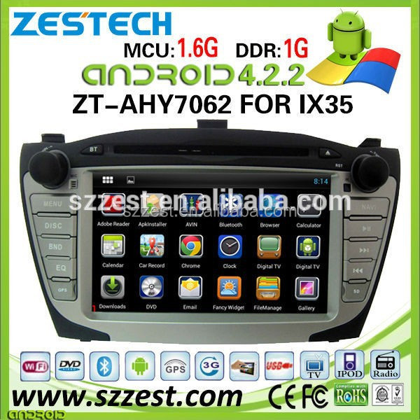 ZESTECH Dashboard Placement and CE certification Android car dvd player for hyundai ix35 double din car dvd gps navigation
