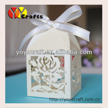 "best new design customized beautiful flower cupcake box paper laser cutting ""rose"" favour boxes for <strong>wedding</strong> with free logo"