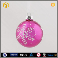 60mm red glass ball christmas tree decoration,glass craft