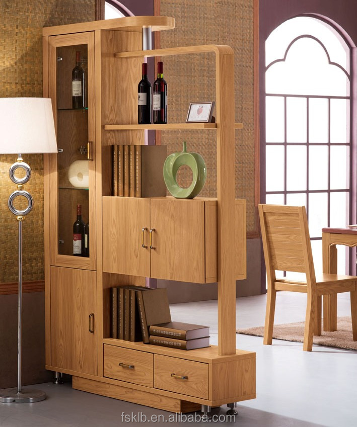 Factory Wholesale Price Teak Living Room Cabinet Divider