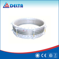Flexible metal bellows large diameter expansion joint