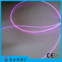 Decorative background curtain sparkling point side glow fiber optic cable for fiber light