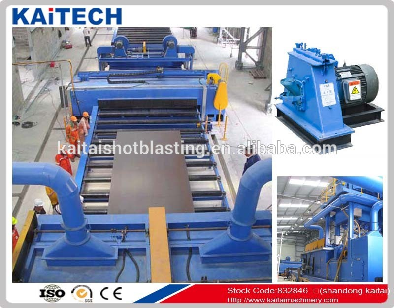 small shot blasting machine for blasting the steel plate with model Q69 series