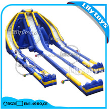 50*28m Giant Inflatable Water Slide for Adult/ Long Water Park Slides for Sale with PVC Material