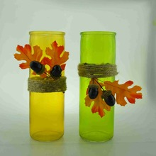 Colored Glass Flower Vase For Home Decoration
