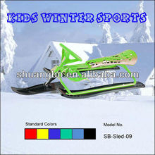 Children Sleds for Snow in Metal and Plastic