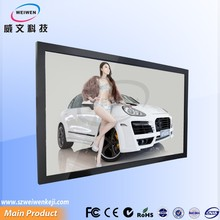 "new slim style 32"" 42"" 49"" 55"" cheap wall mounted advertising led display screen 19 mm thickness"
