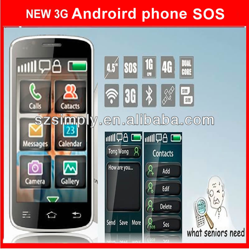 mtk 6572 dual core unlocked android phone with sos W80