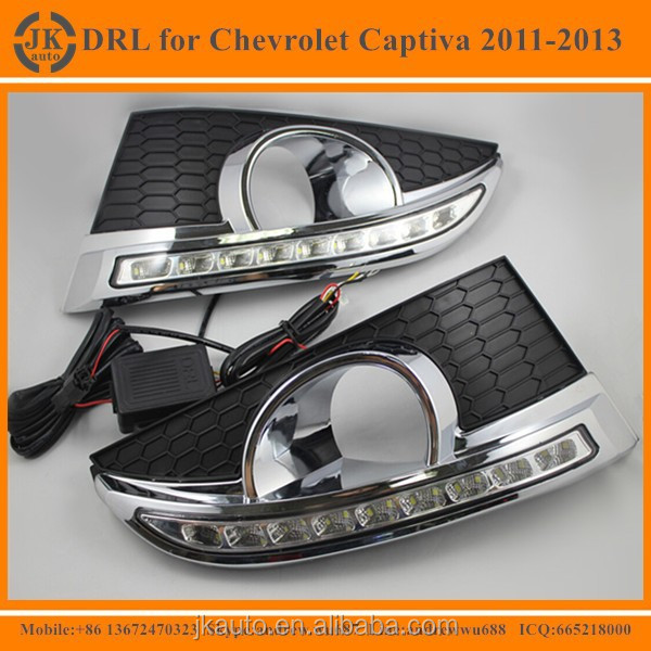 High Power LED DRL Fog Lights for Chevrolet Captiva Excellent Quality LED Daytime Running Lights for Chevrolet Captiva 2011-2013