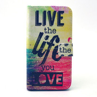 Book style flip leather case for Samsung Galaxy Grand Prime G530