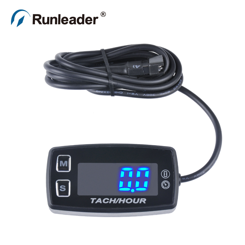 LED Digital Waterproof Motorcycle Tachometer Used For Any Gasoline Engine