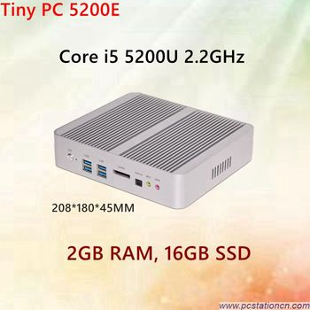 2GB RAM 16GB SSD Desktop PC with 2 NIC Intel i5 5200u Processor HD5500 Graphics WAKE ON LAN Best PC for home