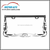 Plastic ABS standard American 310*165mm size custom car license plate frame