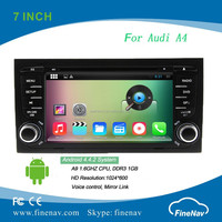 Car Multimedia player 2 din 7 inch Digital Touch Screen Android 4.4 for Audi A4 (2001-2008)
