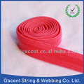 Customized colorful lurex fold over elastic tape for garments