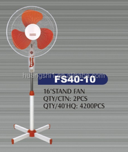 China Supplier Hot Selling Products 16inch Cross Base Super Cooling Air Conditioner Electric Stand Fan With Plastic Blade