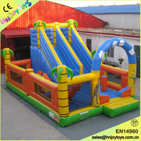 Cheap inflatable dragon city playground, giant inflatable city, inflatable fun city