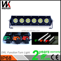 WEIKEN wholesale one row led offroad light bar 60w very fashion auto light for JEE P,SUV,ATV 4x4