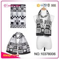 2015 New Design Grey Polyester Scarf Printing