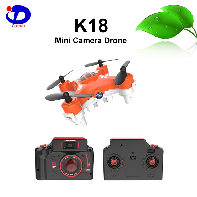 <strong>K18</strong> 6-axis gyro ufo aircraft RC mini camera drone for kids