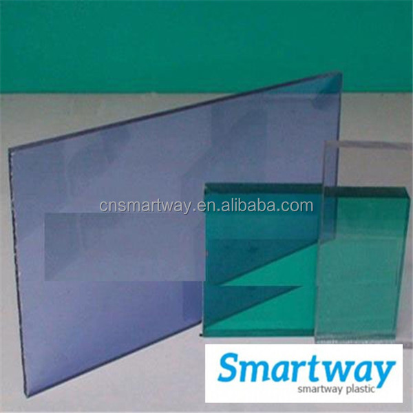 cheap price clear color blue 5mm polycarbonate sheet roofing