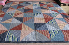 Cotton woven plaid quilt/ patchwork quilted bedspreads