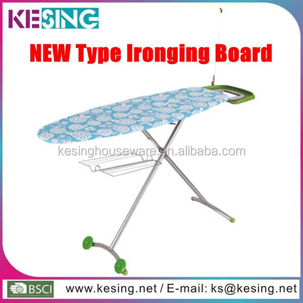 Folding Home Adjustable Ironing Board With Wheels