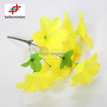 No.1 yiwu exporting commisssion agent wanted 2017 cheapest fresh style yellow flower artificial wholesale