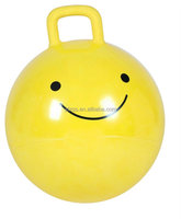Inflatable jumping ball with handle
