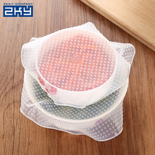 Multifunctional kitchen tools reusable food fresh keeping wrap seal vacuum bowl cover stretch lid