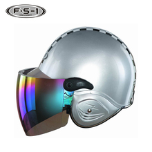 White color matt ABS helmets motorcycle type adults half face moped helmet for laides