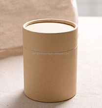 Customized recycled cylinder cardboard paper candle tube box packaging made in China
