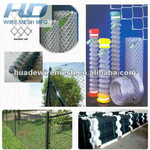 galvanized chain link fence/vinyl coated chain link/chain link fence for sale