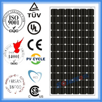 125mm solar cell high quality pv panels solar 200w monocrystalline pv solar panels price 200w