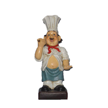 wholesale home decoration polyresin figurines chef statue