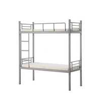 White and black school metal double bunk bed