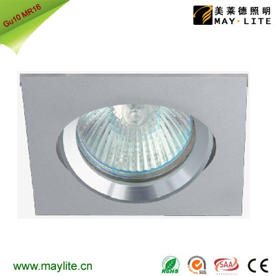 CNC Aluminum Square Moveable Tilt Downlight Gu10 LED
