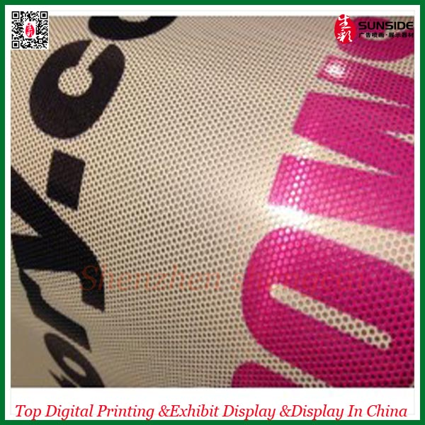 Sticker printing perforated vinyl film one way vision