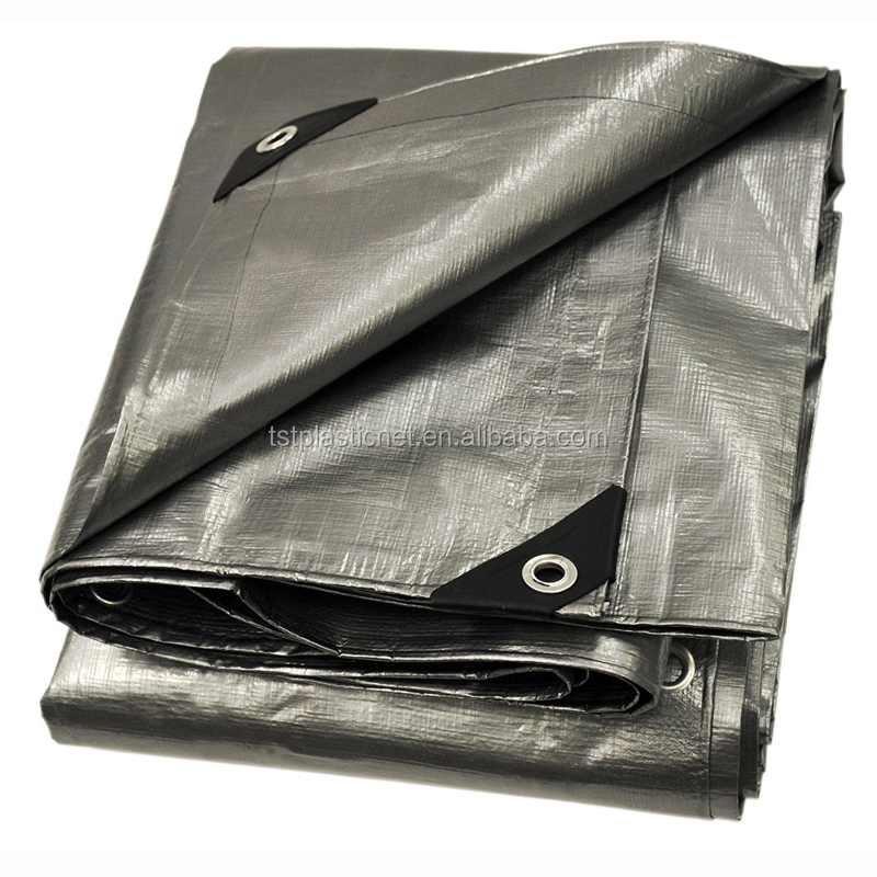 110g green silver waterproof pe tarpaulin sheet
