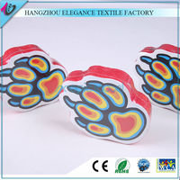 Animal foot shape Customize Printed Cheap Beach Towels Wholesales compressed towels magic bath towel for gift