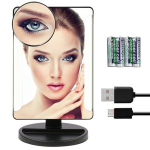 10X Magnifying Table Top Dressing Polishing Illuminant Makeup Mirror with led Light