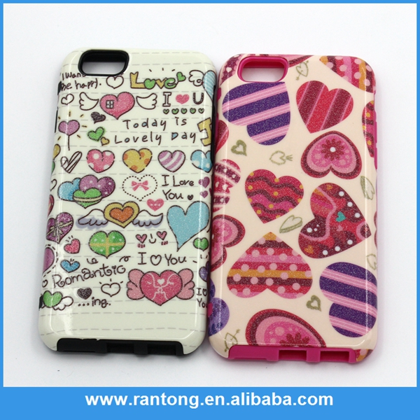 New arrival fashionable 2 in 1 phone case sublimation for iphone 2015