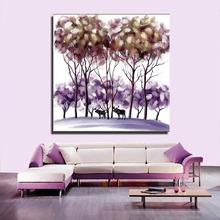 Abstract tree Canvas Painting/Cute Wall Decor Art/Modern Wholesale Canvas ink painting For Wall Decor