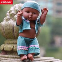 11.8 inch/30CM African black doll Play House Newborn Baby Birthday Gift Christmas Present Bathe Toy