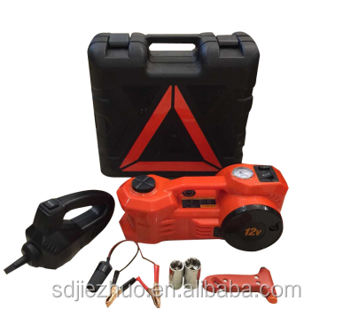 High efficiency portable 3ton 12v electric hydraulic car jack and wrench for sale