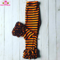 Halloween High Quality Cotton Pants Children Boutique Fitness Striped Leggings Baby Girls Ruffled Icing Pants