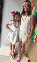 Girls boutique dress clothing ladies fashion lace dresses making lace fabric for little and big sister