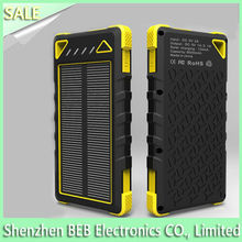 External Portable Solar Mobile Charger 8000mah for Smart Phone Pad Samsung HTC LG blackberry ROHS CE FCC
