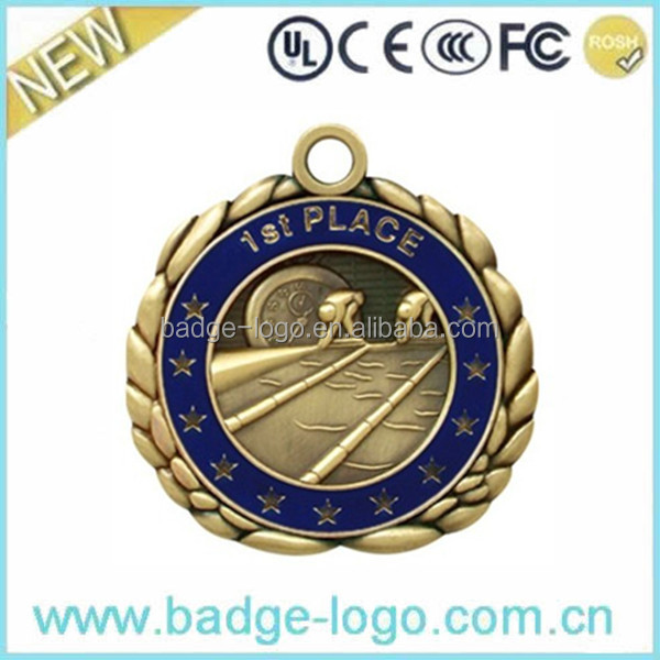 Gold Sports Metal Medals Wholesale with Ribbon
